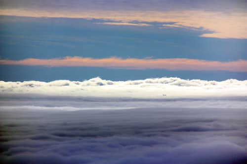 West over a sea of fog from Mt. Diablo
