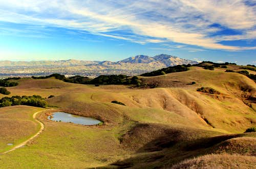 Mt. Diablo from Mott Peak, 1,424\'\'