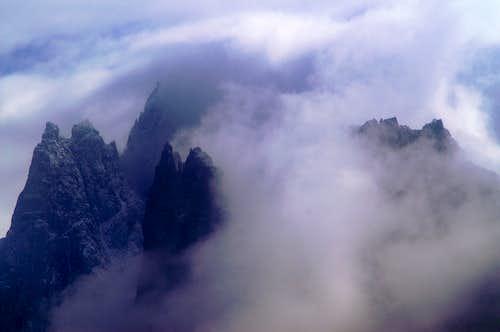 The northern Aiguilles de Chamonix