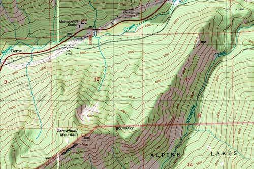 Arrowhead Topo Map