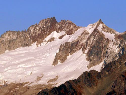 Sahale Mountain from Snowking