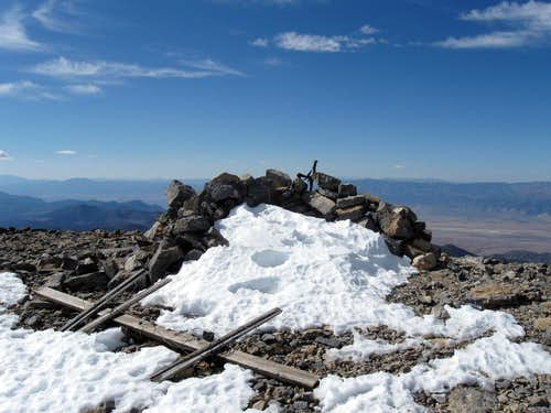Summit cairn