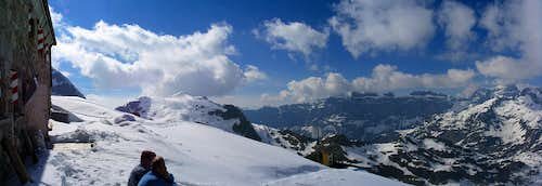 Panorama from Tierbergli Hut