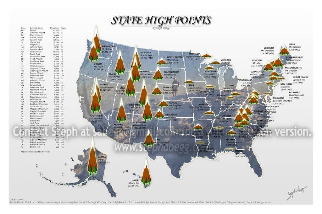 State High Points Photos Diagrams Topos SummitPost
