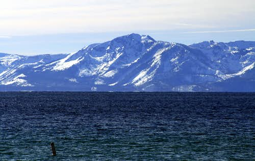Mount Tallac from Lake Tahoe's Sand Harbor