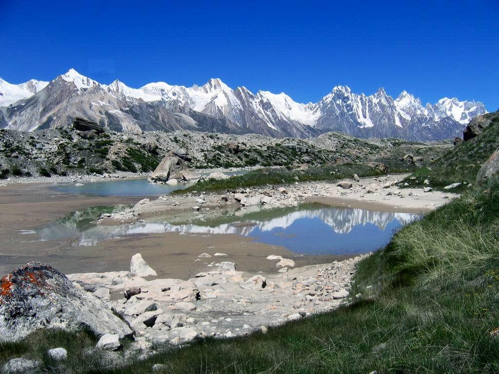 Peaks on Biafo Glacier, Karakoram, Pakistan