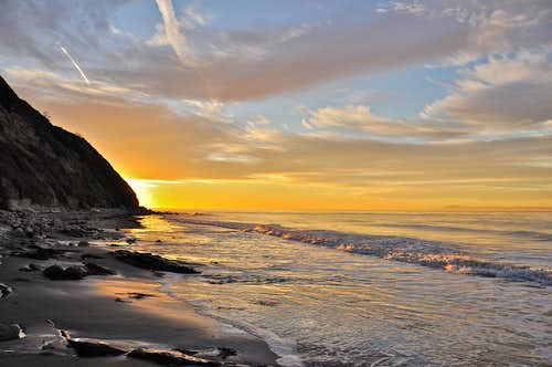 Sunrise on the coast of California