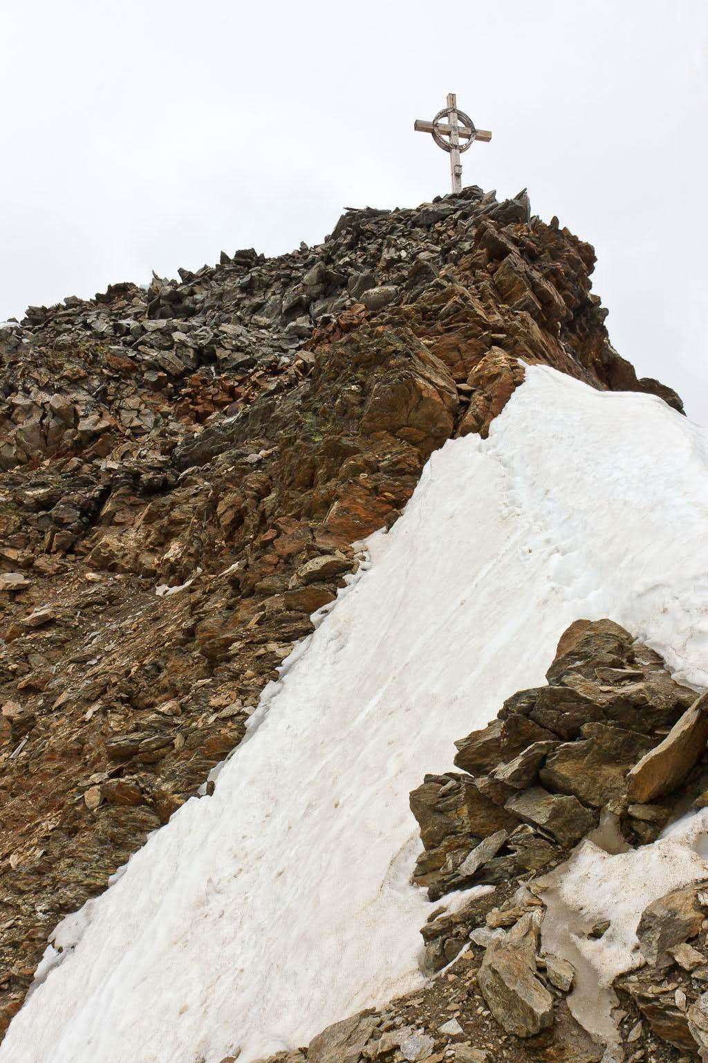 Summit cross of Hinterer Seelenkogel
