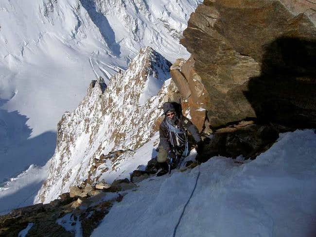 Dufourspitze (west) summit...