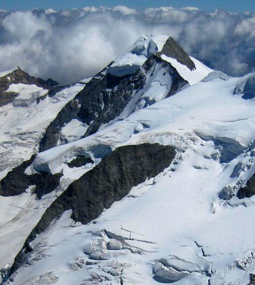 Piz Palü from Piz Bernina