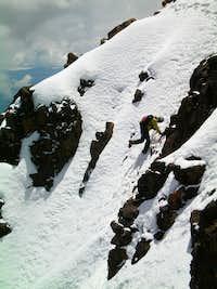 Parofes crossing the Icey Paso del Muerte