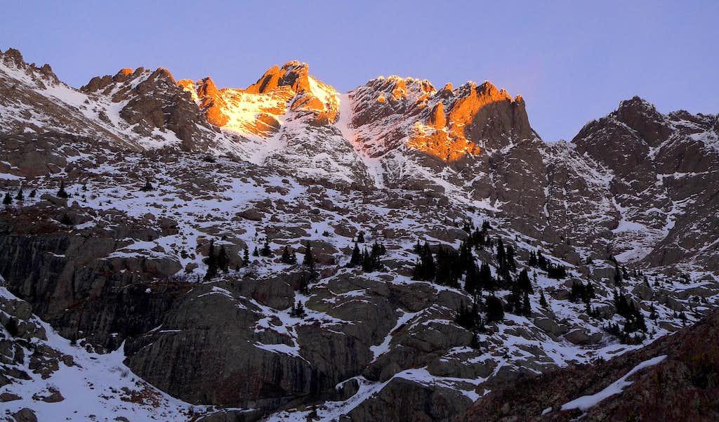 Crestone Peak at sunrise