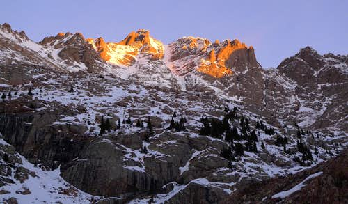 Crestone Peak at sunrise