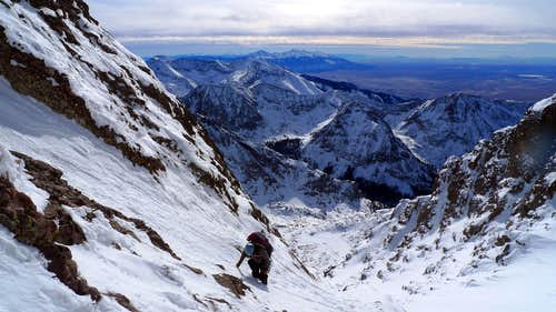 High in the South Couloir