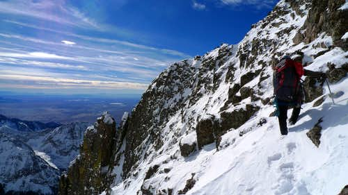 Crestone Peak's summit ridge