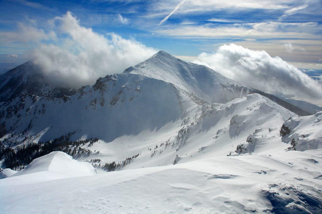 Agassiz Peak and SW Ridge of Humphreys Peak