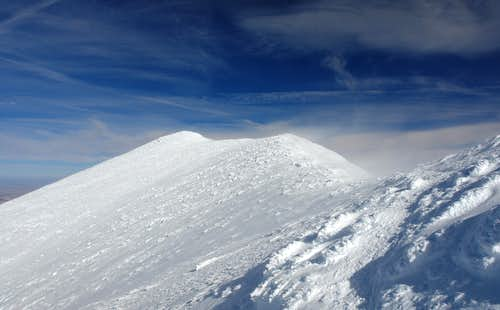 Approaching the summit of Humphreys Peak