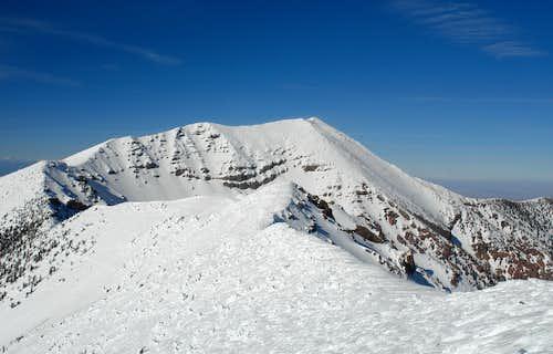 Looking down the North Ridge of Agassiz Peak