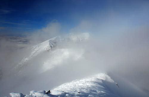 Agassiz Peak: summit view north