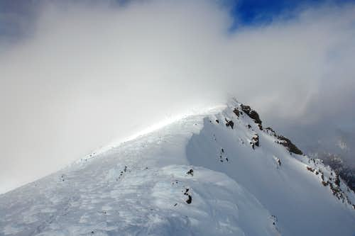 North ridge of Agassiz Peak