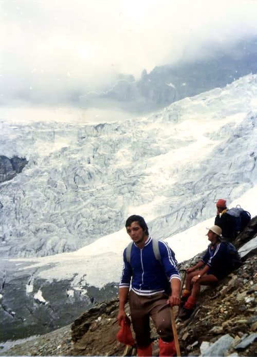 Valpelline\'s Head (3796m) & Tsa de Tsan Glacier on 1976
