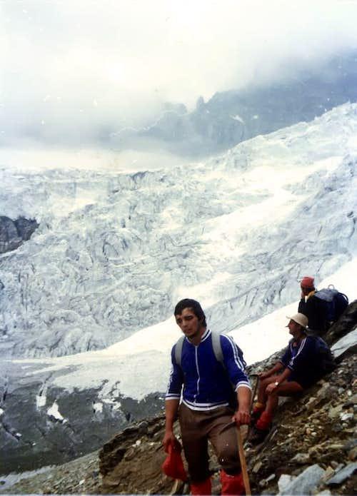 Valpelline's Head (3796m) & Tsa de Tsan Glacier on 1976