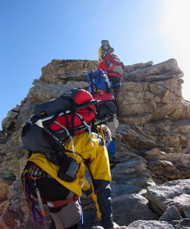 Piz Spinas west ridge