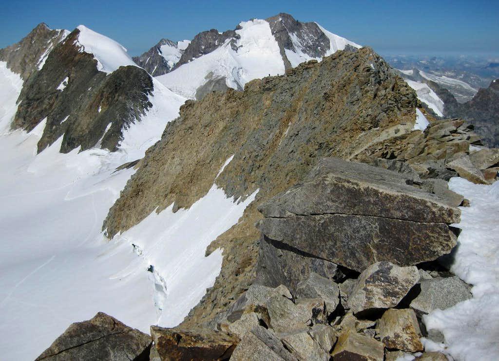 Looking west over Piz Spinas to Piz Bernina