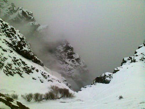 Shirpala under fog