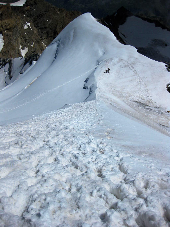 Descending Piz Palü east
