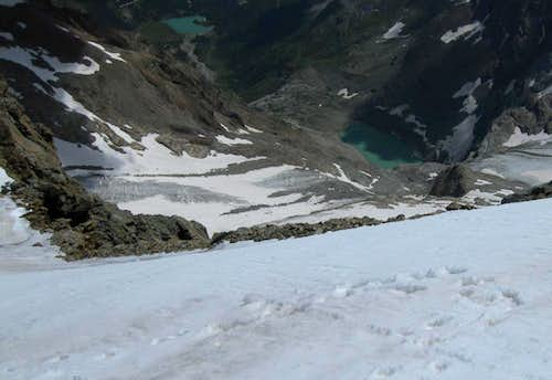 Glaciers and lakes