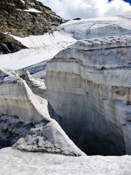 Crevasses on the Pers Glacier
