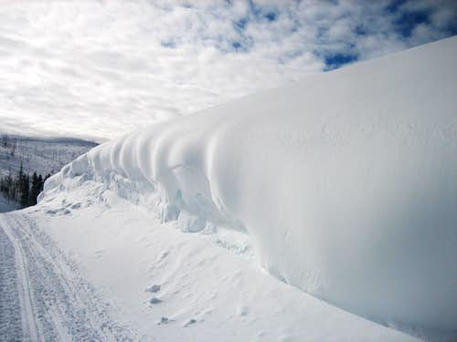 Wind-blown snow