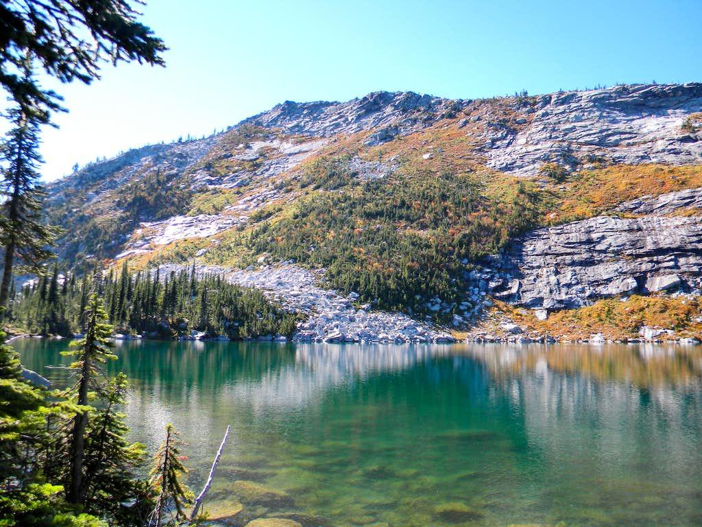 Peak 7,265 Over Upper Ball Lake