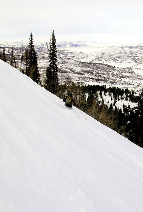 Skiing Summit Park Peak
