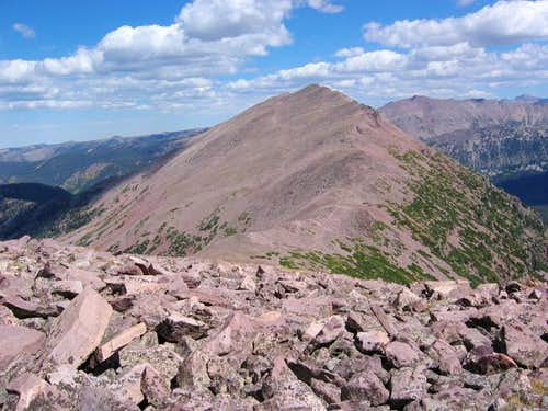 View from the summit looking...