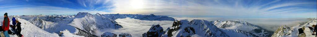 Panorama of the Allgäu Alps - seen from Ponten