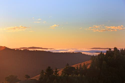Sunset from San Geronimo Ridge