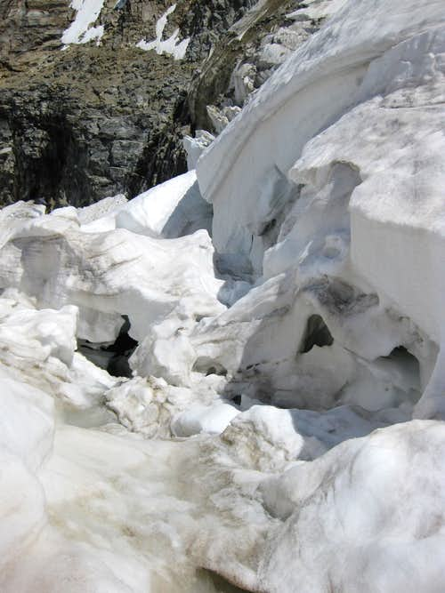 Wild ice on the Pers Glacier