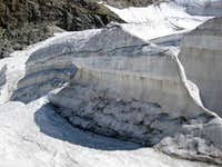 Crevasses on the Pers Glacier