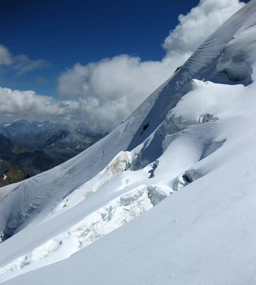 The slope of Piz Palü east