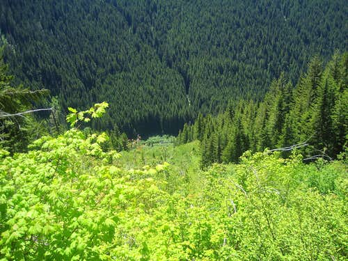 Looking down from White Pass Trail