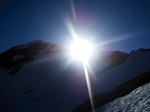 Sun Setting over White Mountain