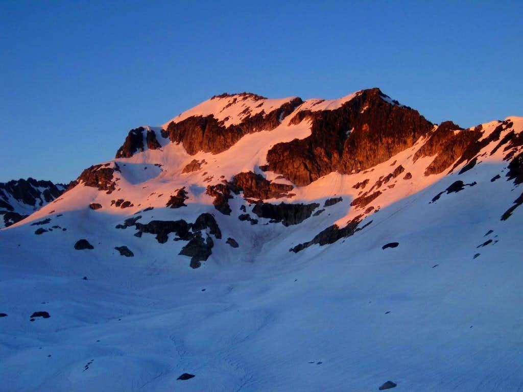 Alpenglow on Mount Kolos