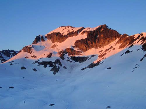 Alpenglow on Mount Kolos