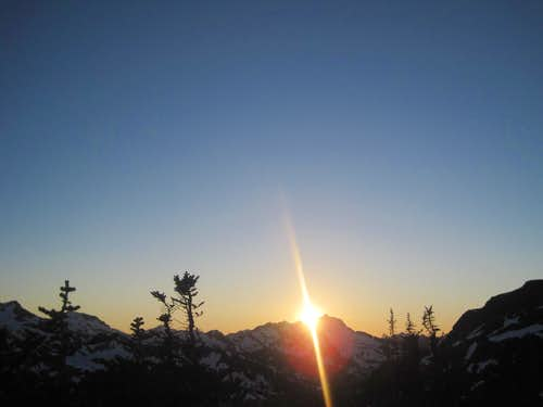 Sun Setting over Black Peak