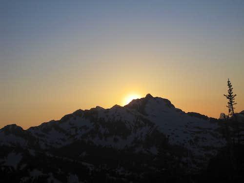 Sun Behind Black Peak