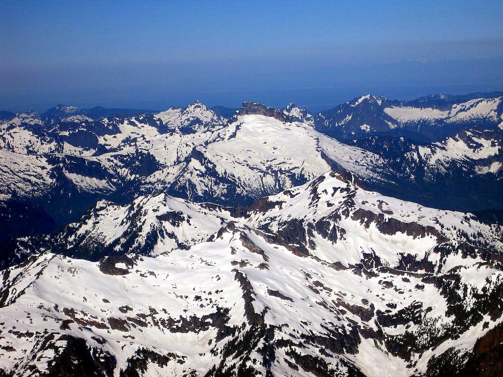 Looking out towards Sloan Peak