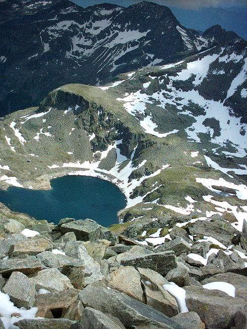 Looking down from the summit...