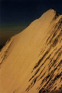The Dreieselwand on Lenzspitze